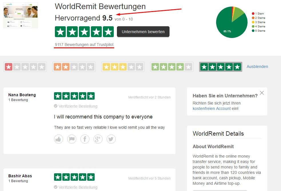 World Remit Erfahrungen
